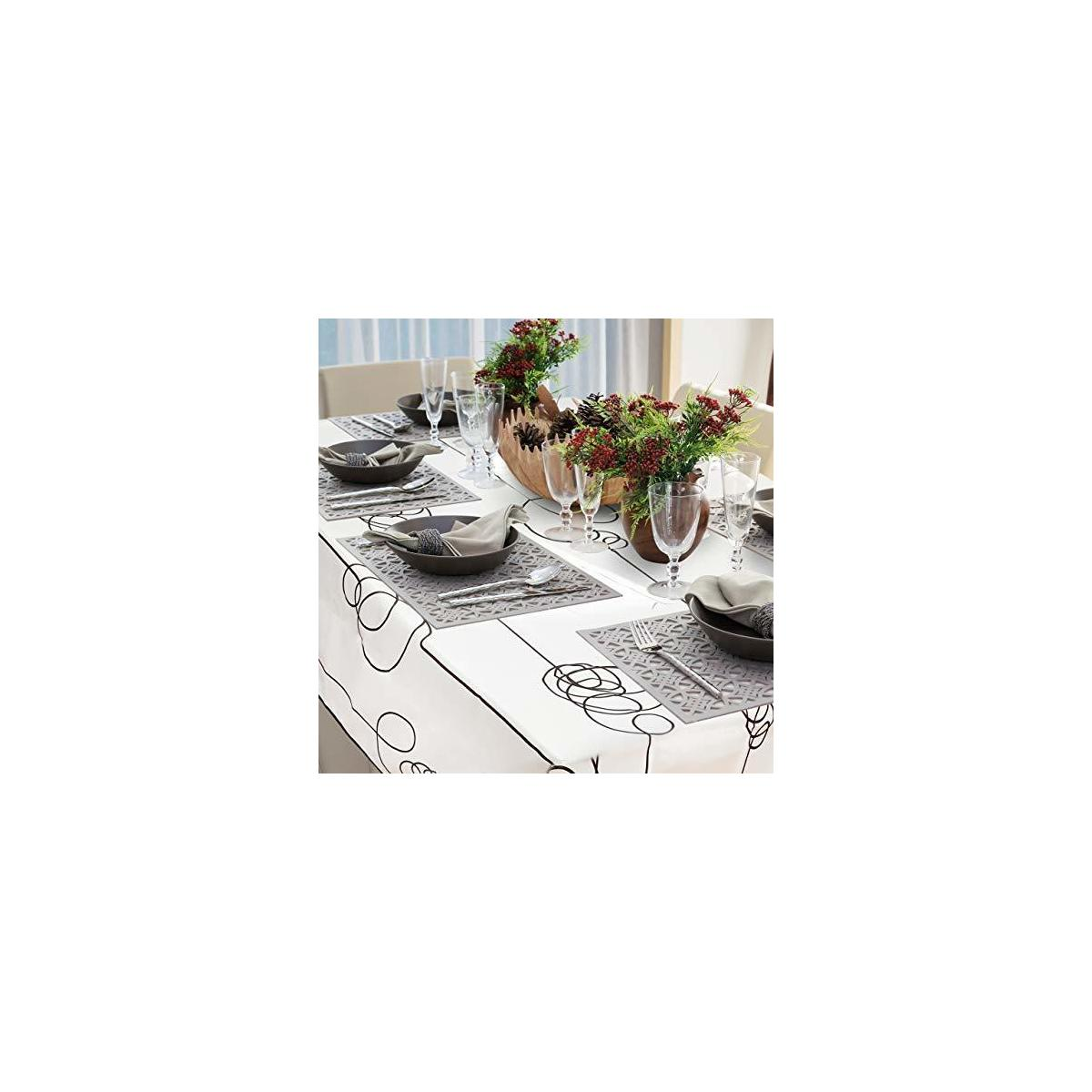 Water-Resistant Rectangle Polyester Tablecloth