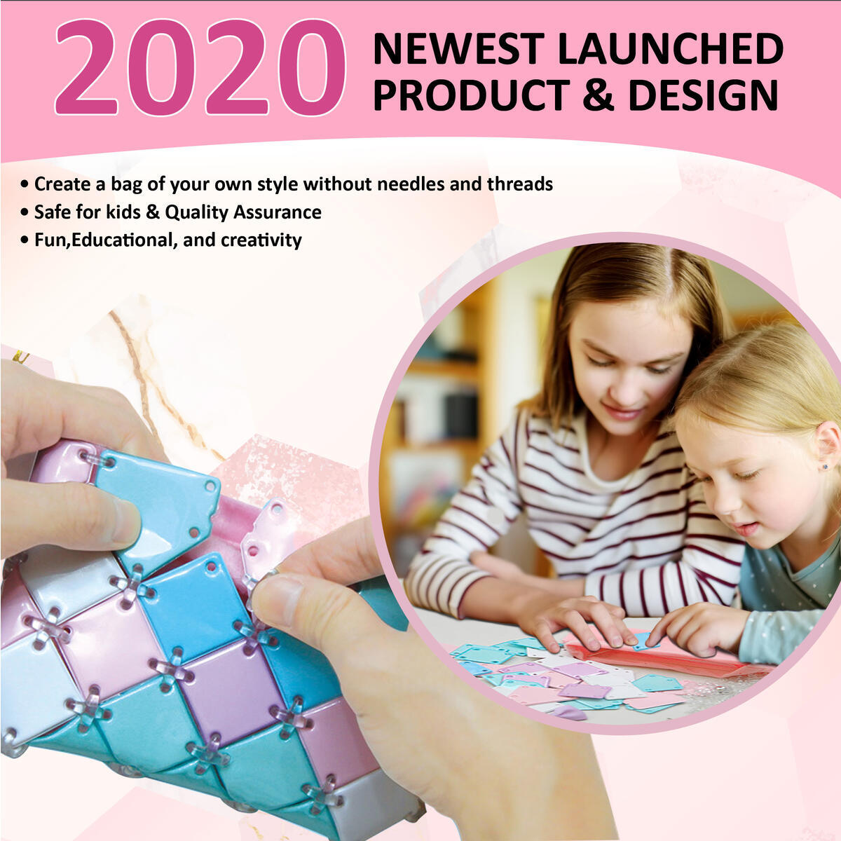 Buddy N Buddies Make Your Own Fashion Purse for Girls Age 6 7 8 9 10 Years Old Best Gift. DIY Wallet for Girls, Fun Arts & Craft Activity Kit for Kids, Cute Girl Gift.