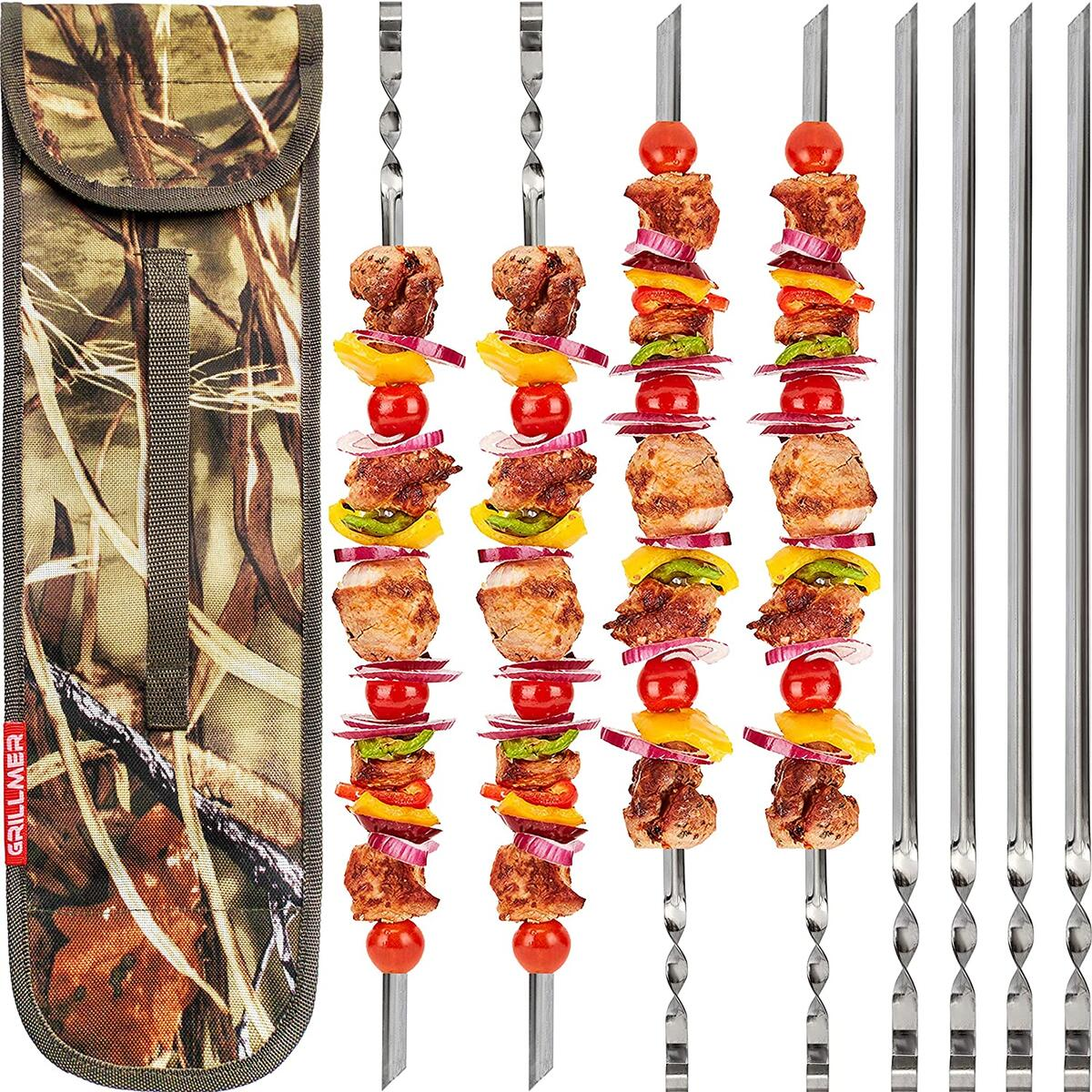BBQ Skewers 22 Inch Stainless Steel