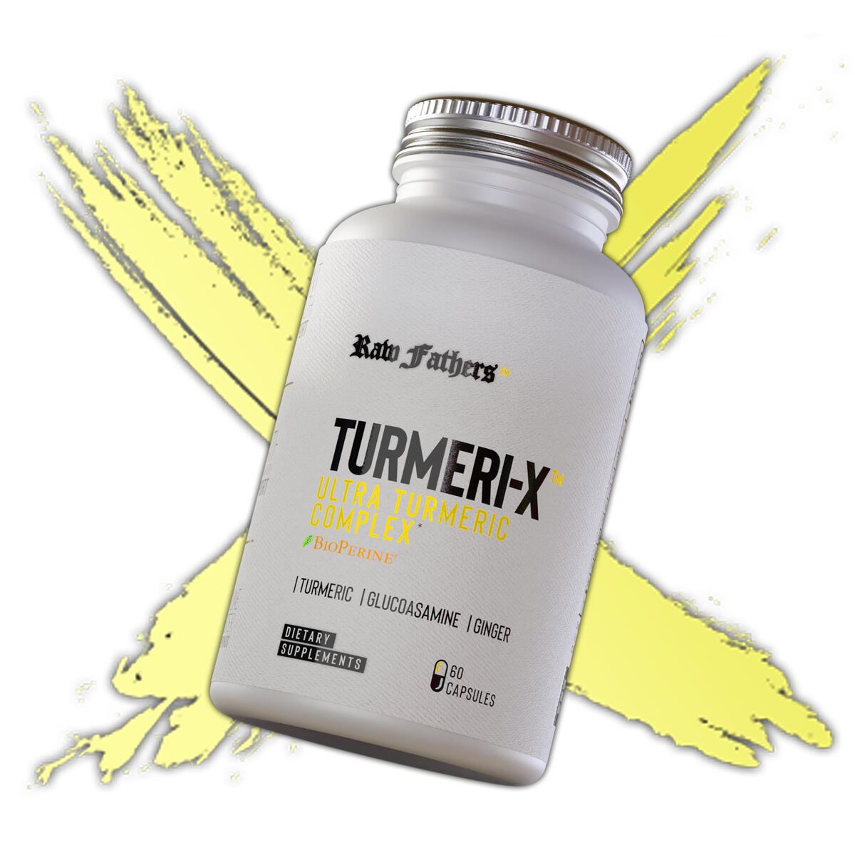TURMERI-X™ Advanced Turmeric Curcumin with Bioperine Complex by Raw Fathers | Anti Inflammatory Supplement -Turmeric Curcumin - Ginger - Bromelain | Joint Support Glucosamine Chondroitin MSM & More