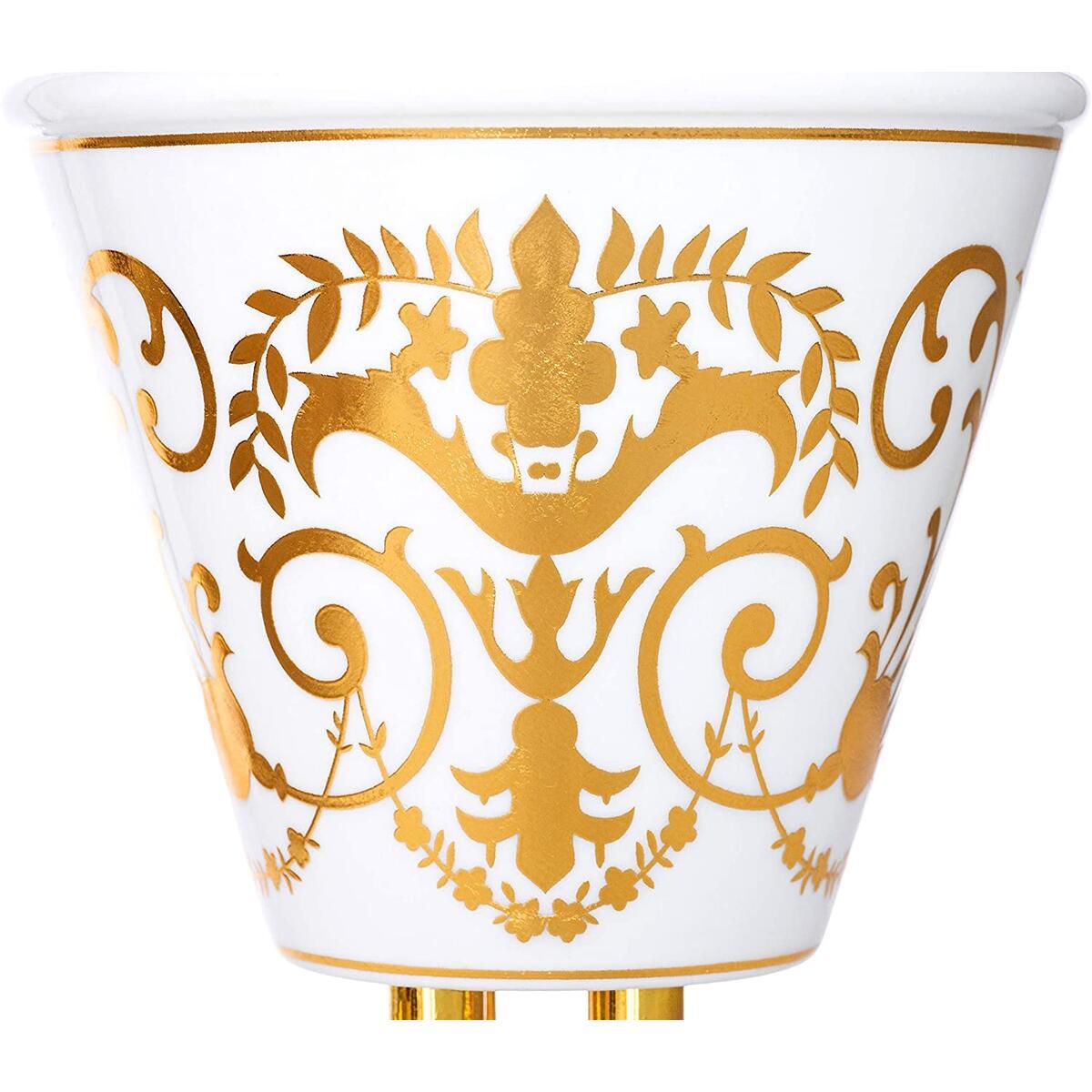 AM Ceramic Bakhoor Incense Burner - Charcoal Incense Holder - Brocade