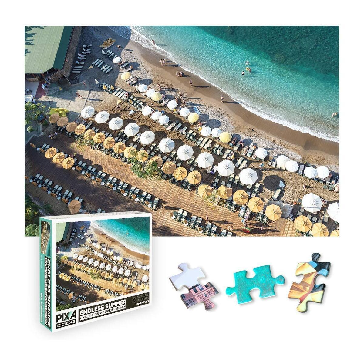1000 Piece Puzzle for Adults - Endless Summer Beach Pictures Puzzles Collection by PixaCode for Adult Kids and Friends Perfect for Game Night and Wall Decor