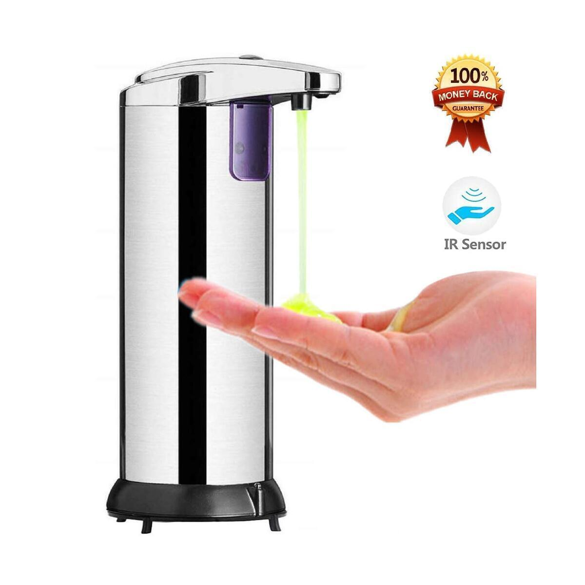 ibnBAQAR Automatic Hand Soap Dispenser, Touchless High Capacity, touchless, Infrared Motion Sensor Waterproof Base Adjustable Switchs Suitable for Bathroom, Kitchen, Hotel, and Restaurant