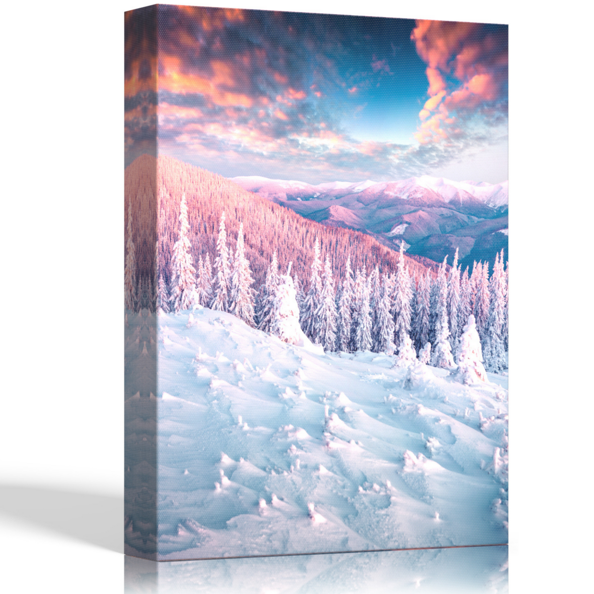 Canvas Wall Art - Mountain Forest Wall Art, Bathroom Pictures, Office Wall Art, Stretched Framed Wall Decor, Nature Prints that is Ready to Hang for Bedroom, Kitchen, Hallway, Decoracion Para Baños