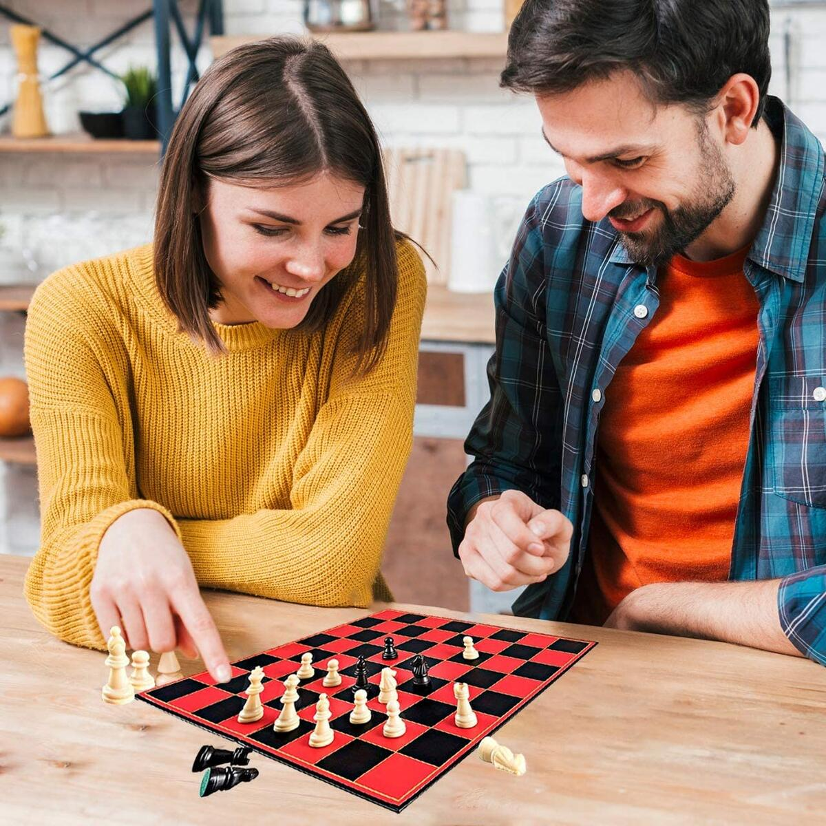 Classic Chess Board Game, with Super Durable Board, Best Folding Board Game for The Entire Family.
