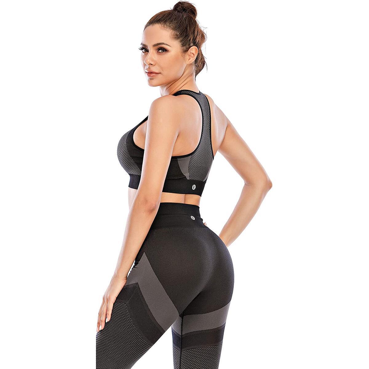 RUNNING GIRL Racerback Sports Bras for Women, High Impact Padded Push up Yoga Bra Seamless Workout Fitness Activewear Bra…