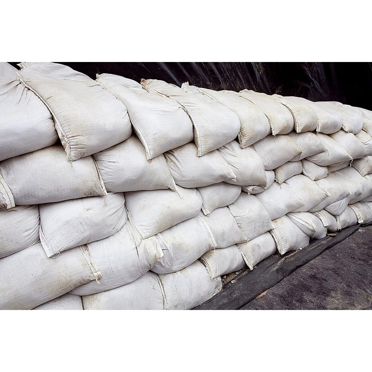 Empty White Sandbags Woven Polypropylene, Heavy Duty Sand bags for Flooding, Up to 1600 of UV Protection 14