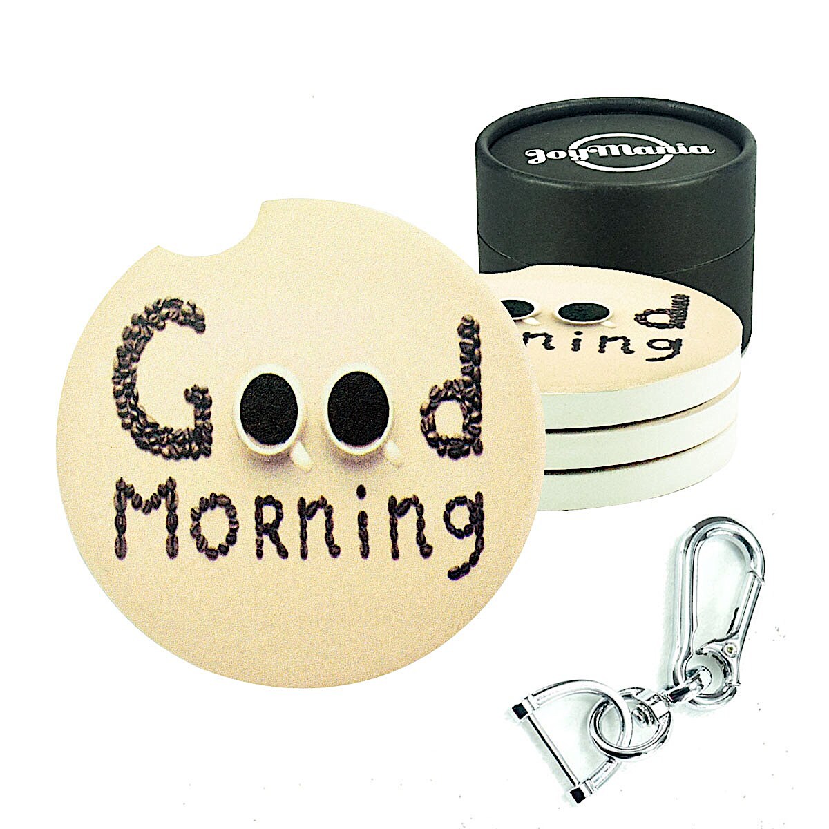 Car coasters 4 pack( Good morning)