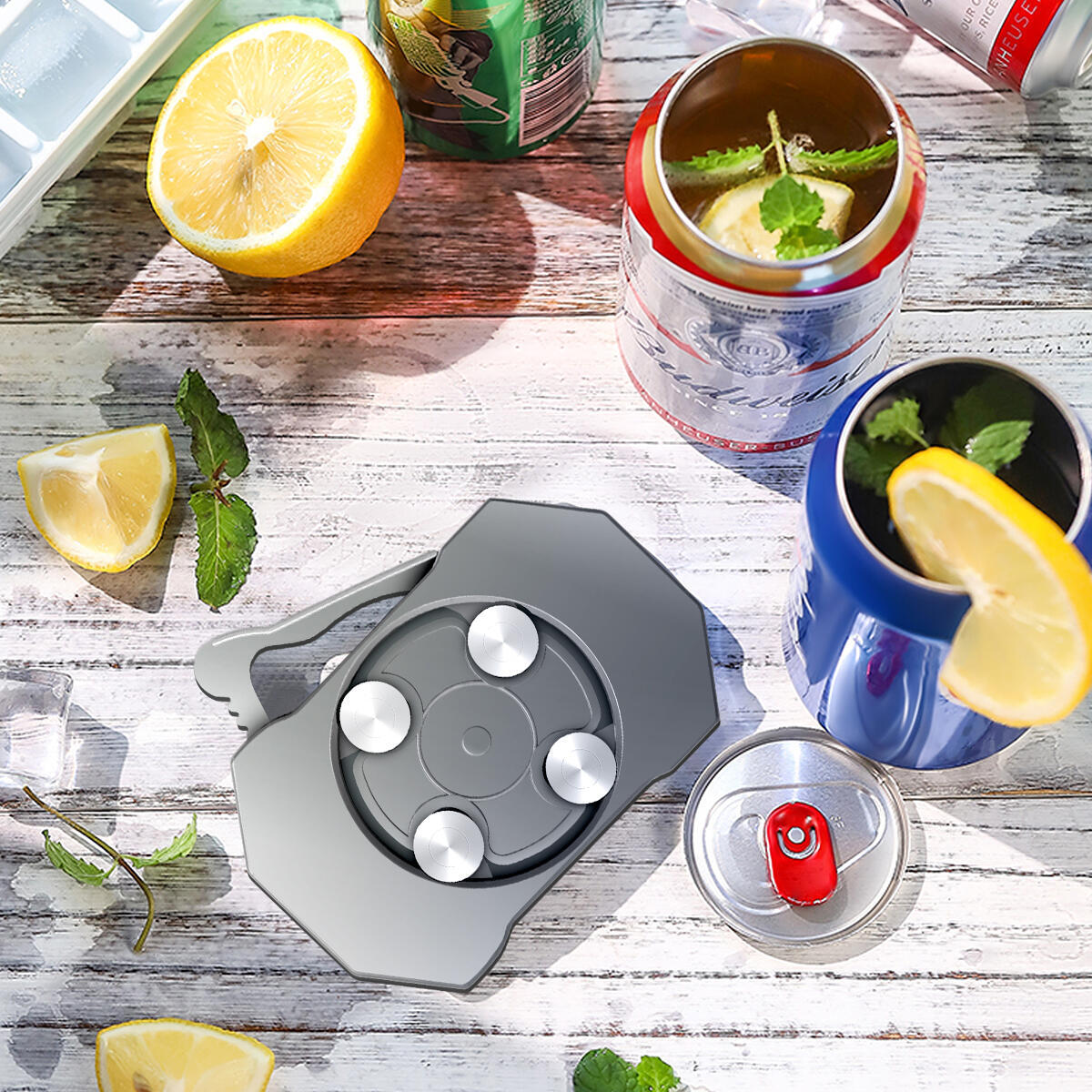 Hand-hold Can Opener, Smooth Edge, Effortless Remove Lid, Manual Can Opener for Canned Drinks, Useful Tools for Home and Bar, Great for Camping, Traveling …