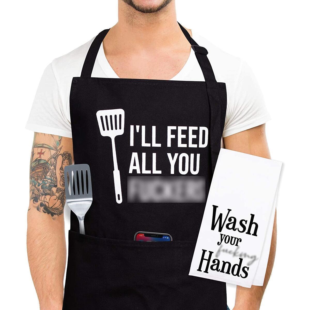I'll Feed You All Fuckers - Apron IQ-Z5NM-PJGB 01212021