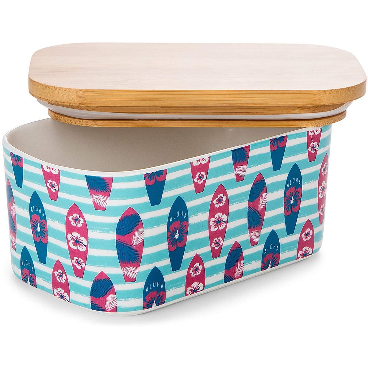 Butter Dish With Lid - Airtight Stick Butter Holder. Porcelain Butter Keeper That Fits 2 Sticks