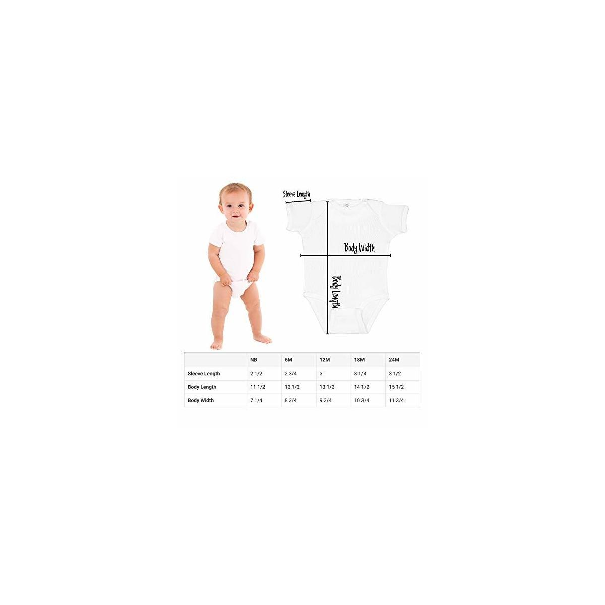 Happy First Fathers Day Baby Bodysuit Funny Made in The USA