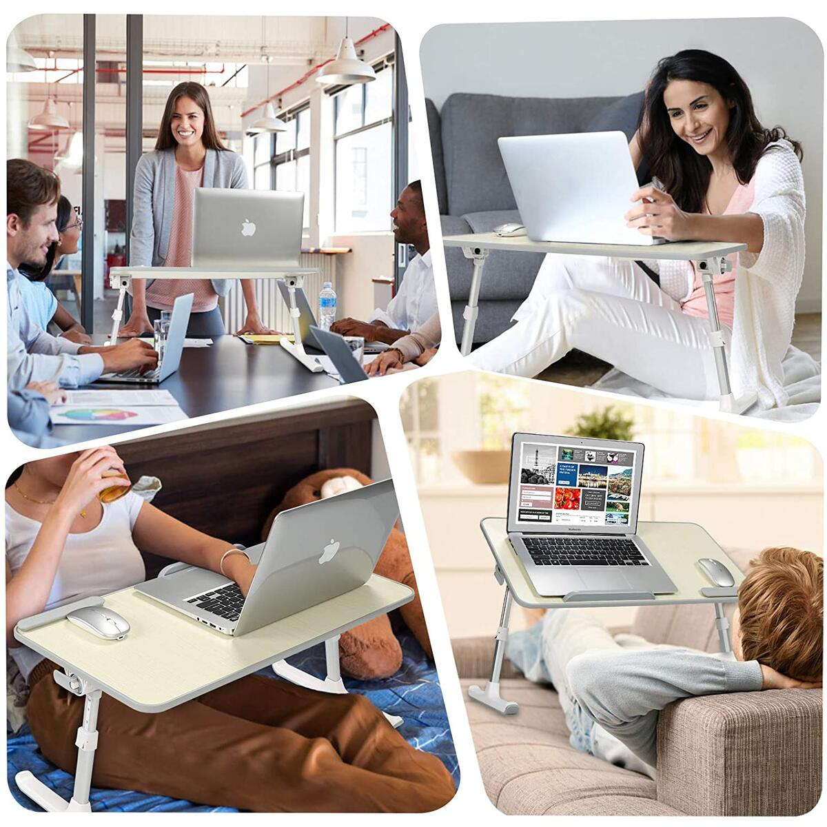 IBAMA Portable Laptop Stand Table Height and Angle Adjustable Desk Lightweight Folding Table for Writing and Working in Bed, Sofa and Couch