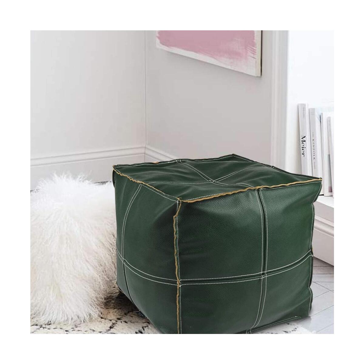 Faux Leather Pouf Cover(ALL COLOR AVAILABLE)