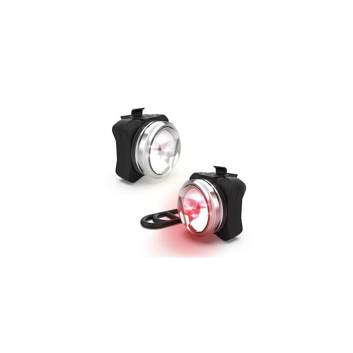 COMPACT & POWERFUL FRONT & REAR  BIKE LIGHT  210 LUMENS  USB RECHARGEABLE BIKE LIGHT SET