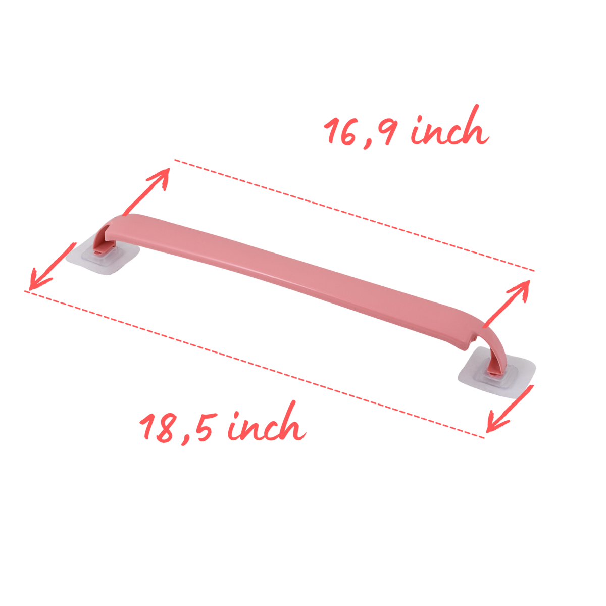 2 - Pack wall mount towel holder for Kitchen and  Bathroom (Pink)