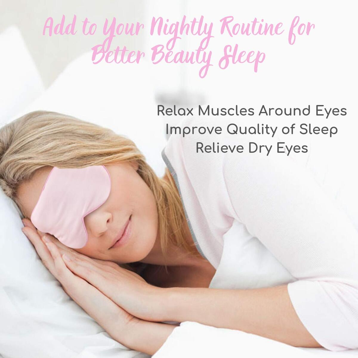 Pink Silk Heated Eye Mask