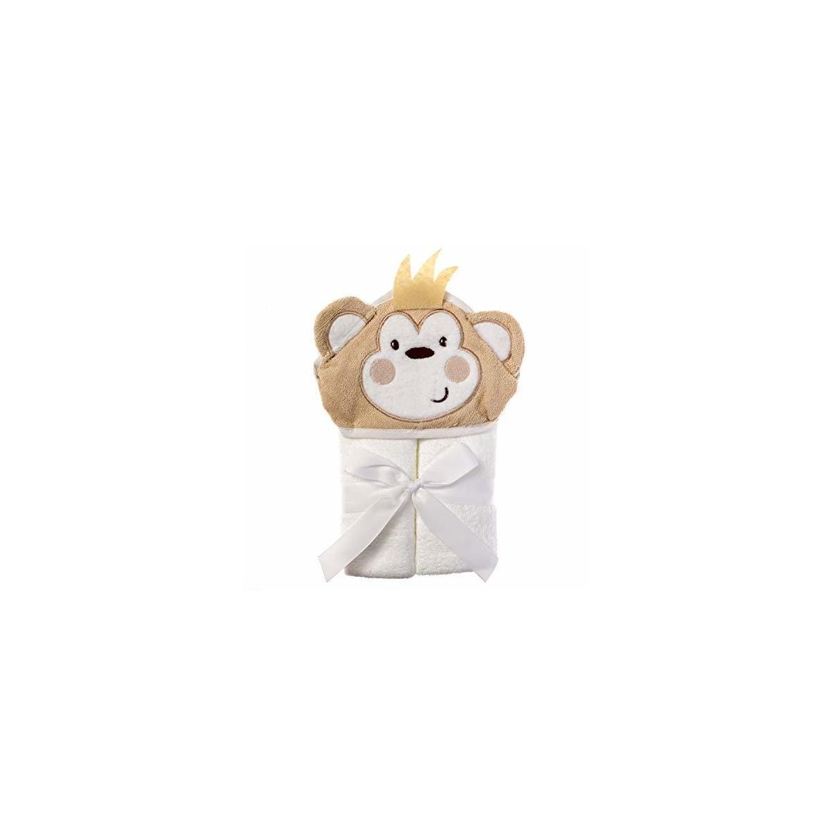 REBATE ONLY FOR monkey----Hooded Baby Towel with 100% Soft Cotton for Boys and Girls - Cute 3D Animal Baby Bath Towel Extra Soft Hooded Towels for Baby Perfect Baby Gifts and Baby Towels - Baby Towel