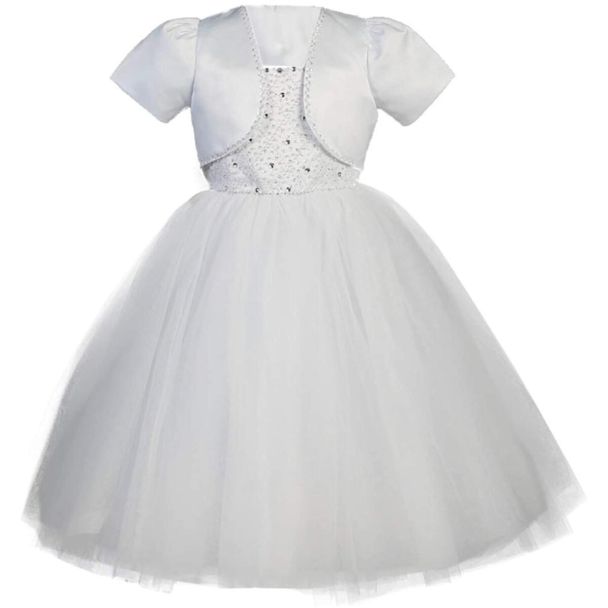 First Communion Dresses for Girls 7-14 Holy 1st Communion Dress White