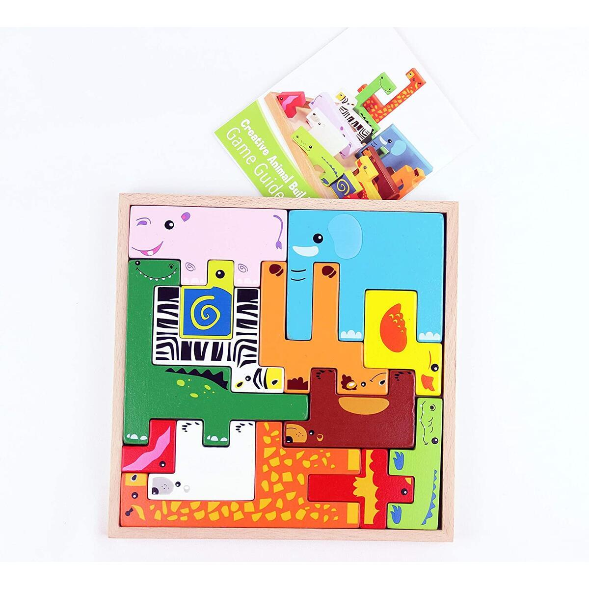 WOODEN BABY TOYS TODDLER PUZZLES AGES 2-4 PLAN TOYS WOODEN TOYS FOR TODDLERS COLORFUL BRAIN TEASER