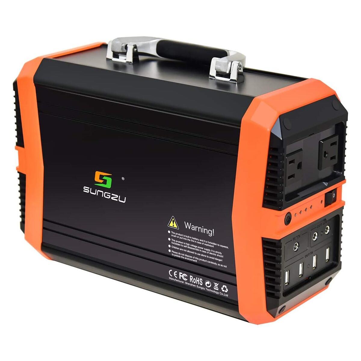 SUNGZU Portable Power Station 300W, Portable Generator 346Wh 11.1V/31.2Ah Backup Lithium Battery Solar Generator