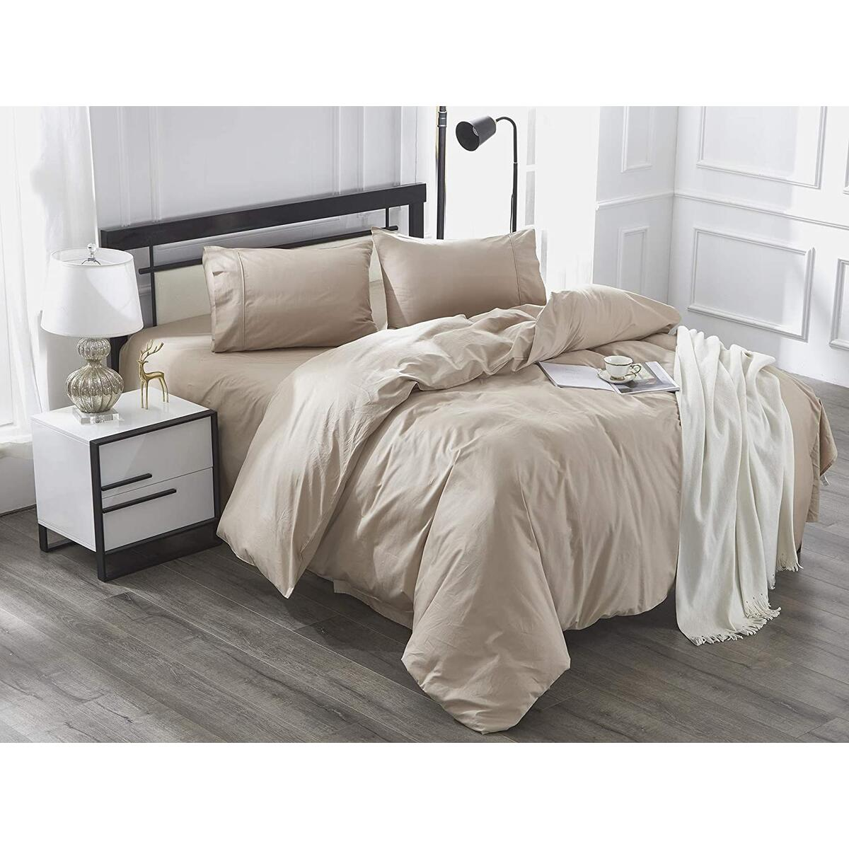 IBAMA 100% Cotton Duvet Cover Set Including Pillowcases For Queen Size Bed In Bedroom Kid's Room Guest Room