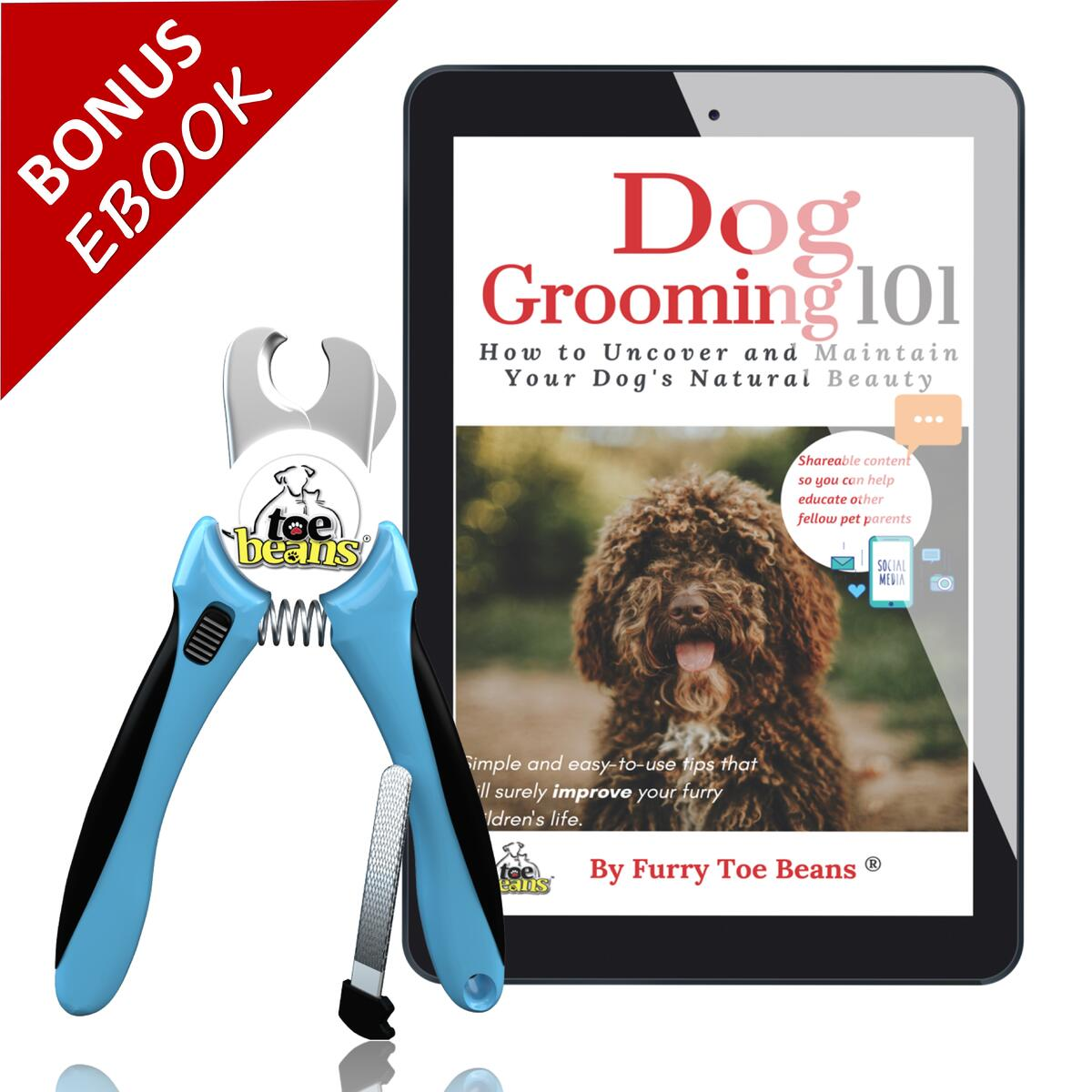 Dog Nail Clippers | Plastic-Free Packaging | FREE SHiPPiNG - No order Minimums! ! | FREE Dog Grooming Ebook | FREE Storage Cottong Bag