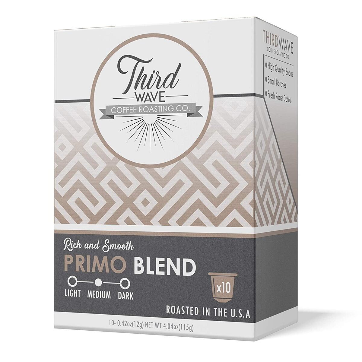Primo Blend  – 10 Fresh Roasted Nespresso Compatible Capsules by Third Wave Coffee