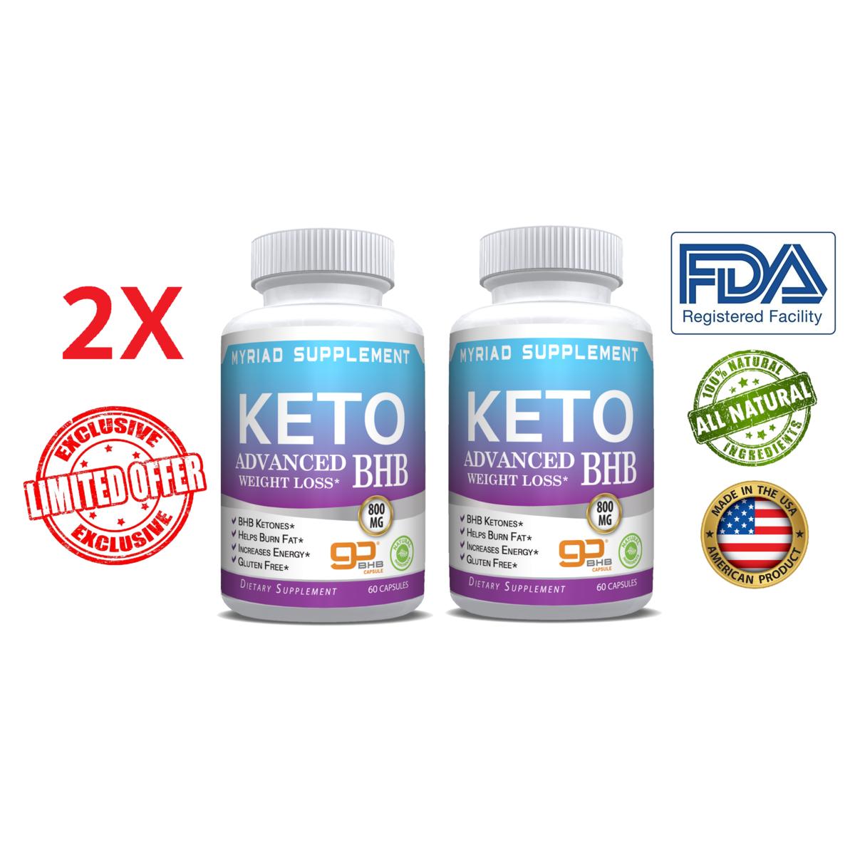 ~Keto Diet Pills Advanced Weight Loss that WORKS Burn Fat Carb Blocker BHB~