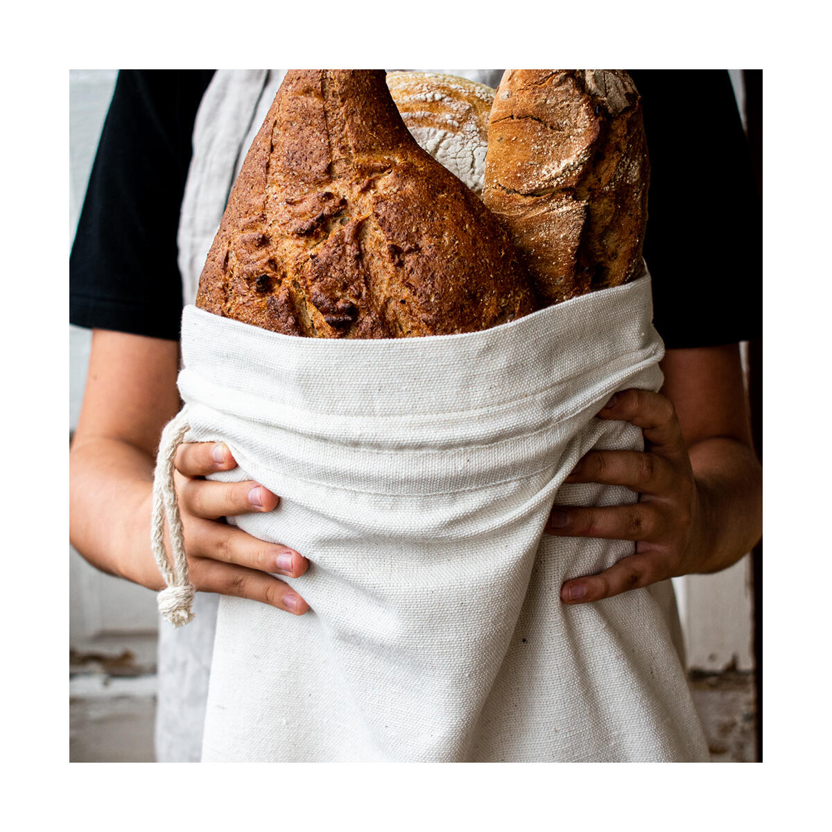 Patented Reusable Bread Bag for Homemade Bread