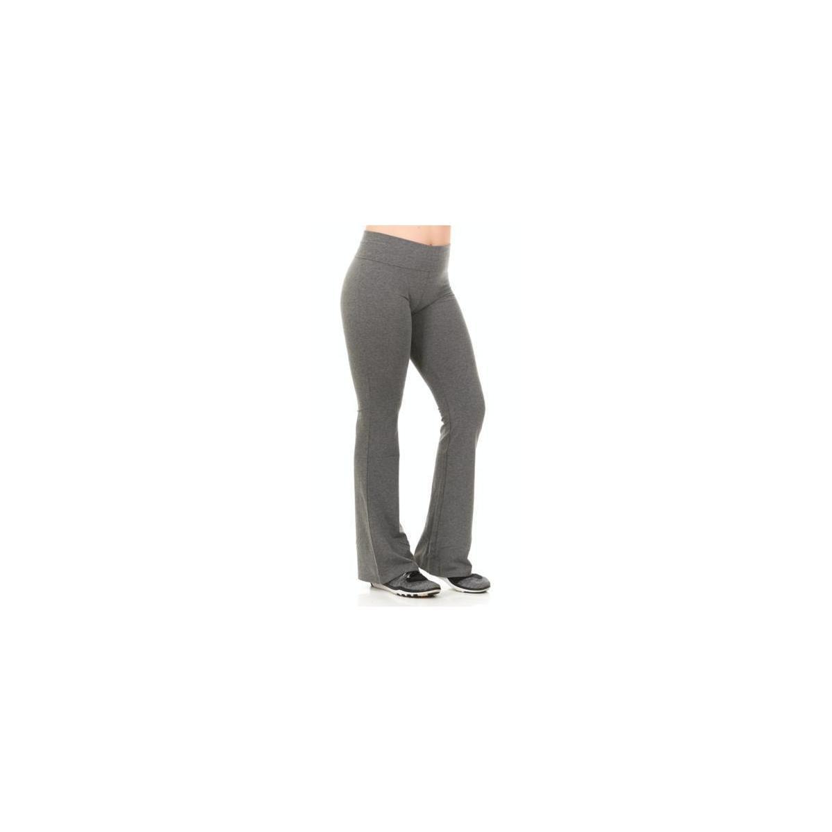 Unique Styles Yoga Pants For Women Fold Over Waistband Grey Short Small Cashback Rebate Rebatekey