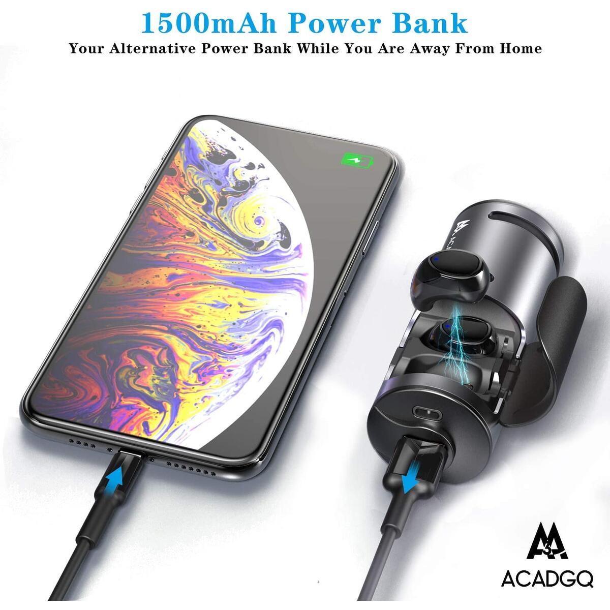 Bluetooth 5.0 Earbuds Rechargeable Wireless Headphones Bluetooth Speaker Waterproof TWS Bluetooth Earphones with Charging Case 3 in 1 Function for Running ACADGQ