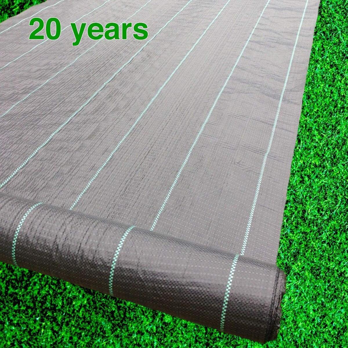 Premium Landscape Fabric Heavy Duty 4 x 100 ft 4.1oz/140gsm Black - Woven Weed Barrier Landscape Fabric - Garden Fabric Roll - Weedblock for Garden, Flower Bed, Driveway, Drainage and Weed Prevention