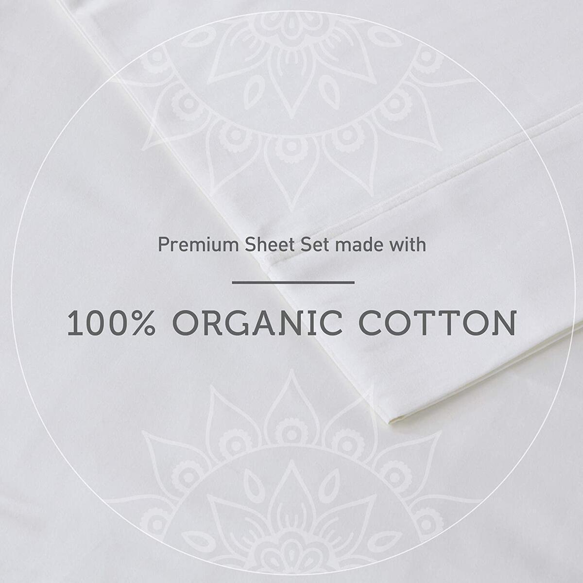 Hyde Lane 500 Thread Count Sateen Sheets Sets | 100% Long Staple Cotton Sheets | Hotel Quality Deep Pocket Fit Mattress Up to 14