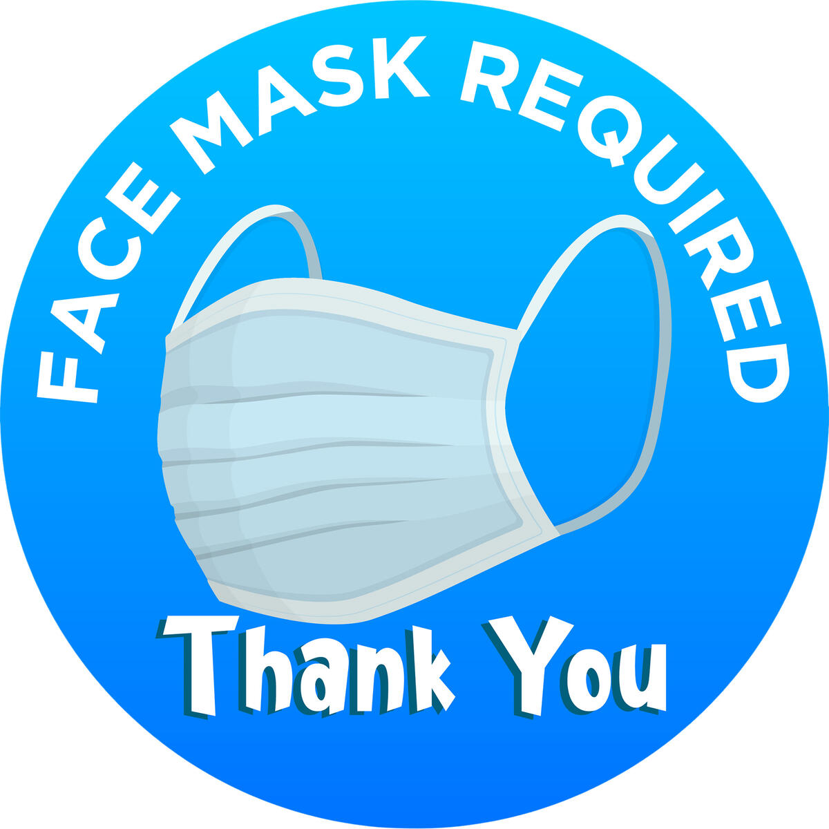 Face Mask Required Sign For Your Business - Thick, Durable, Peel and Stick Vinyl 8