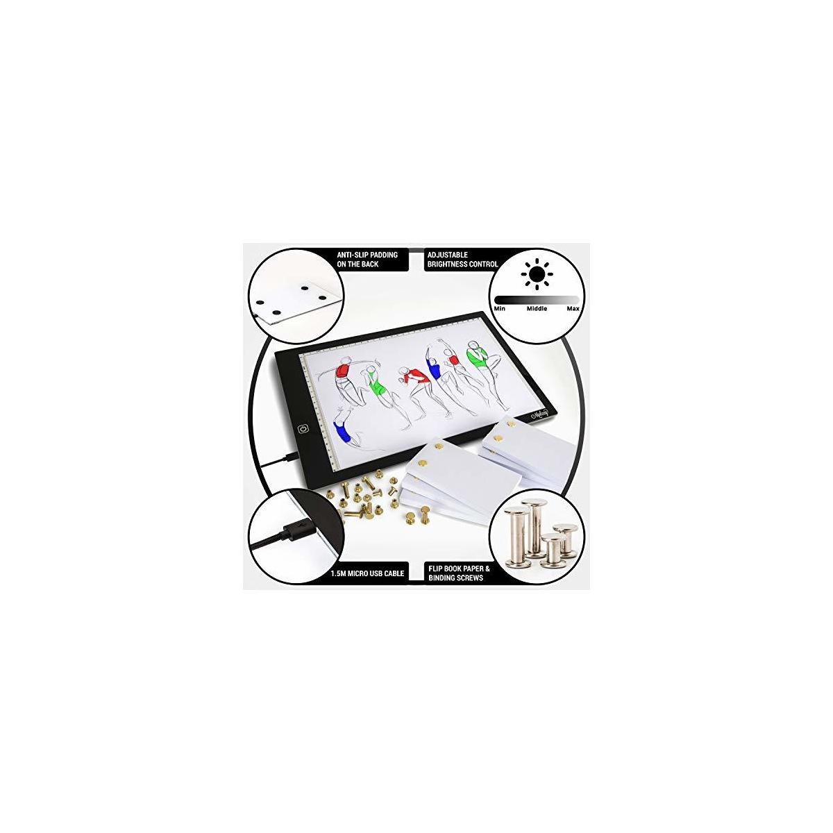 A4 Premium Flip Book Kit with Light Pad