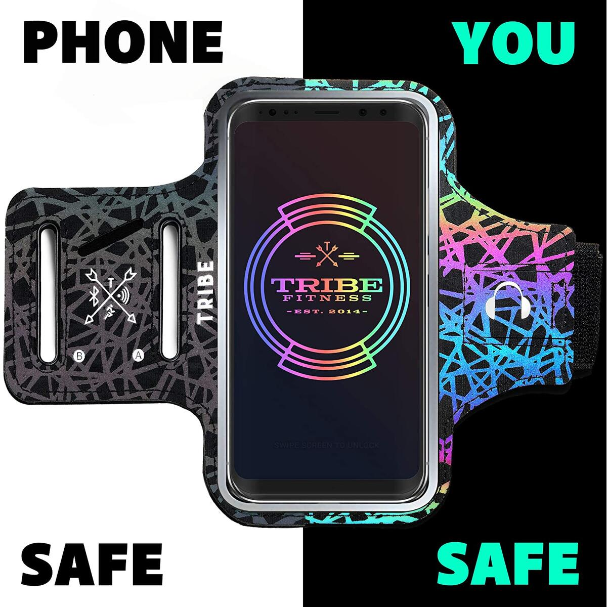 TRIBE Reflective Running Phone Holder Sports Armband (ALL SIZES, ALL COLORS)