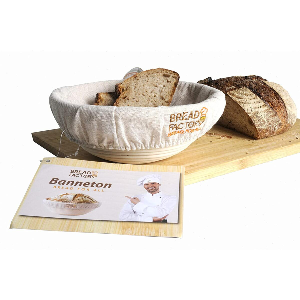 Bread Factory 9 Inch Banneton Proofing Basket Set