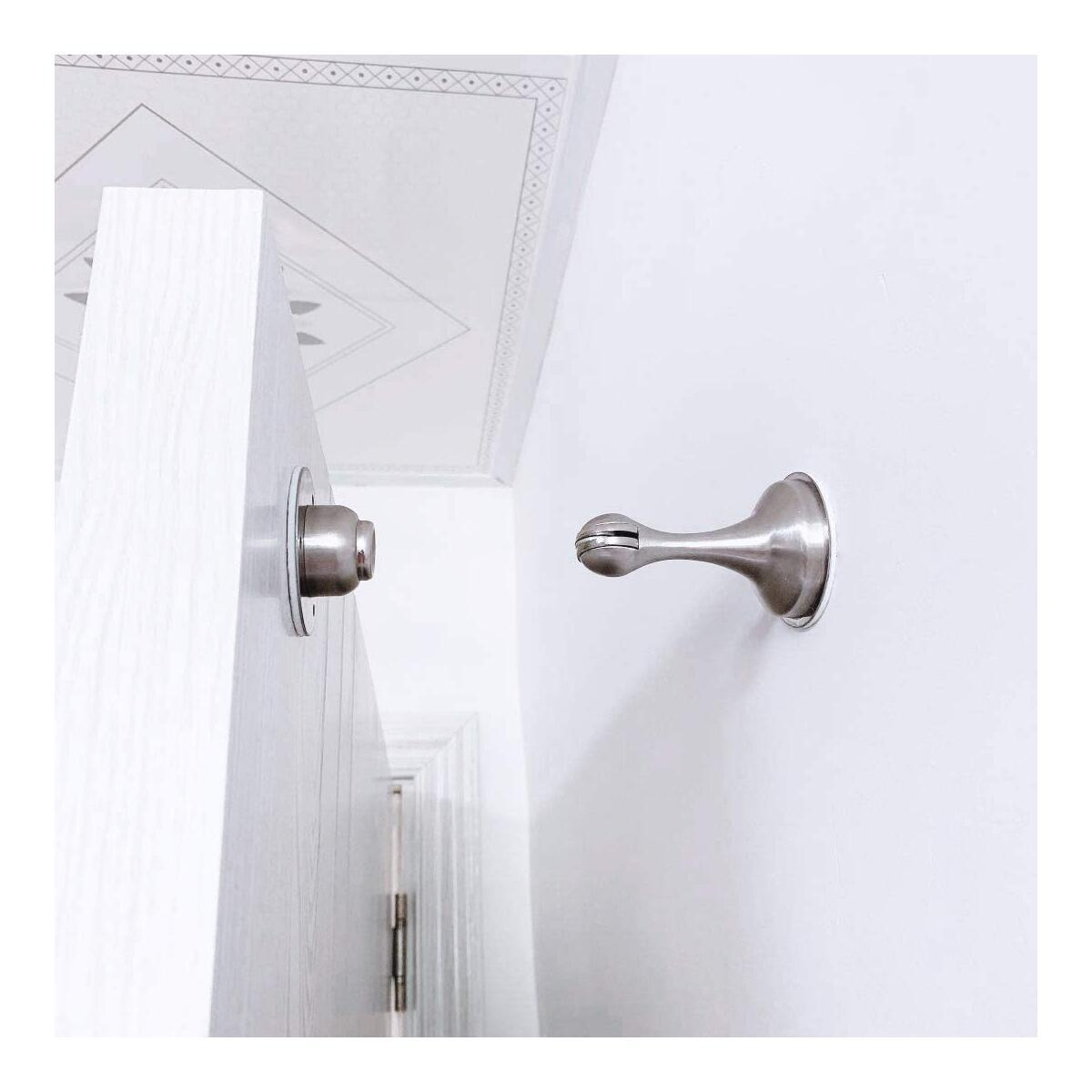 Door stopper set - 2 pack Magnetic door stopper and 4 door bumpers