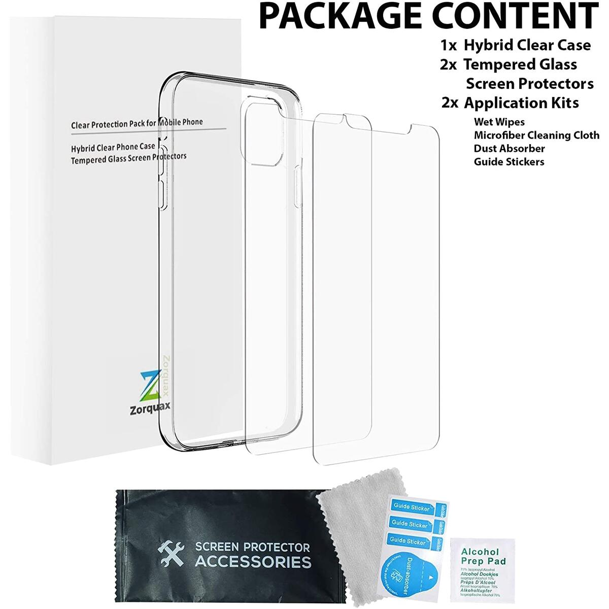 70% OFF!!! TODAY ONLY - iPhone 11 - 6.1 - Zorquax Case + Screens Protection Pack (6.1