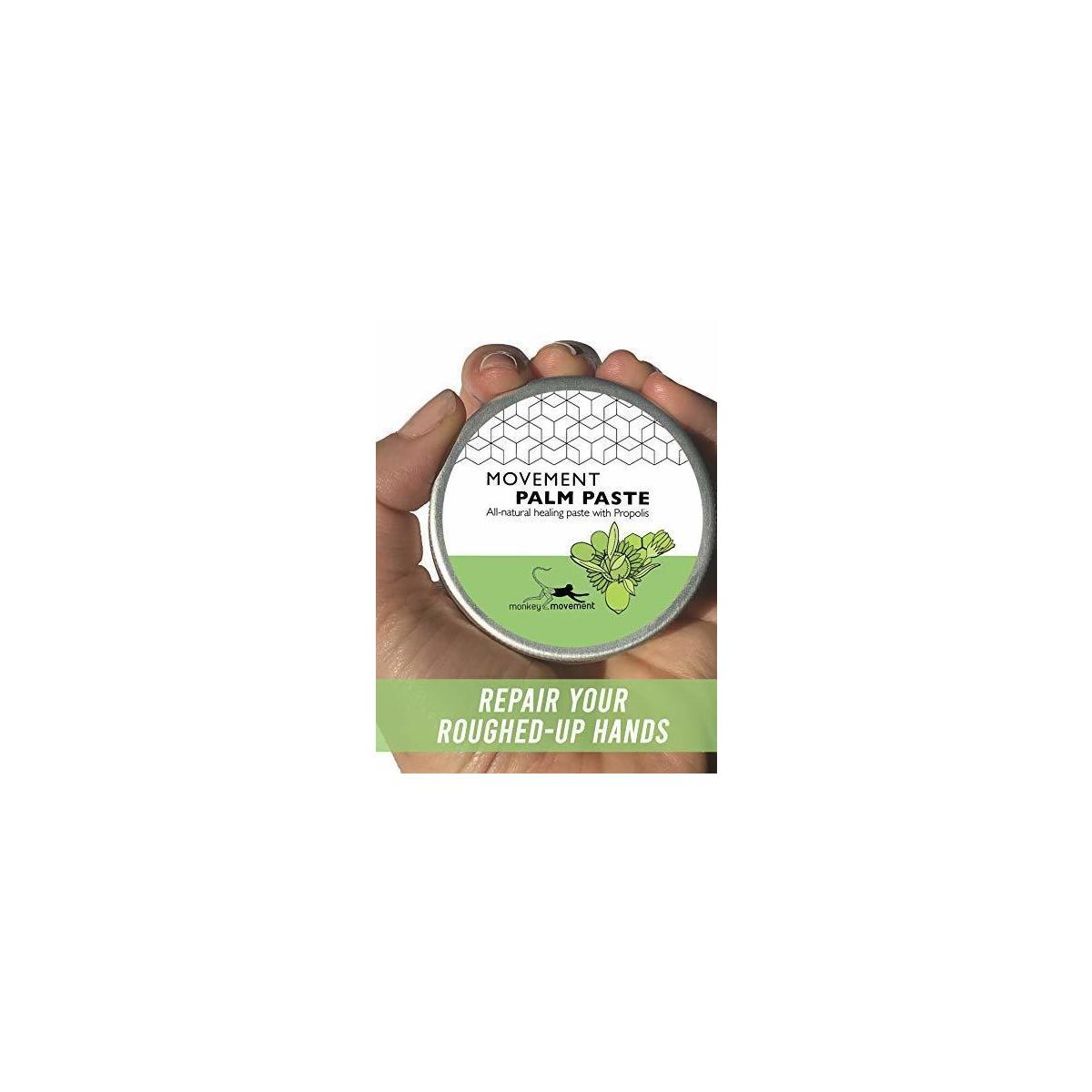 Skin Healing Palm Repair Cream for Athletes: All Natural Dry Skin Relief Balm with Propolis for Rough Hands - Callus Remover Lotion for Climbers, Weightlifters, Gymnasts to Soothe Rips, Tears, Peeling Skin