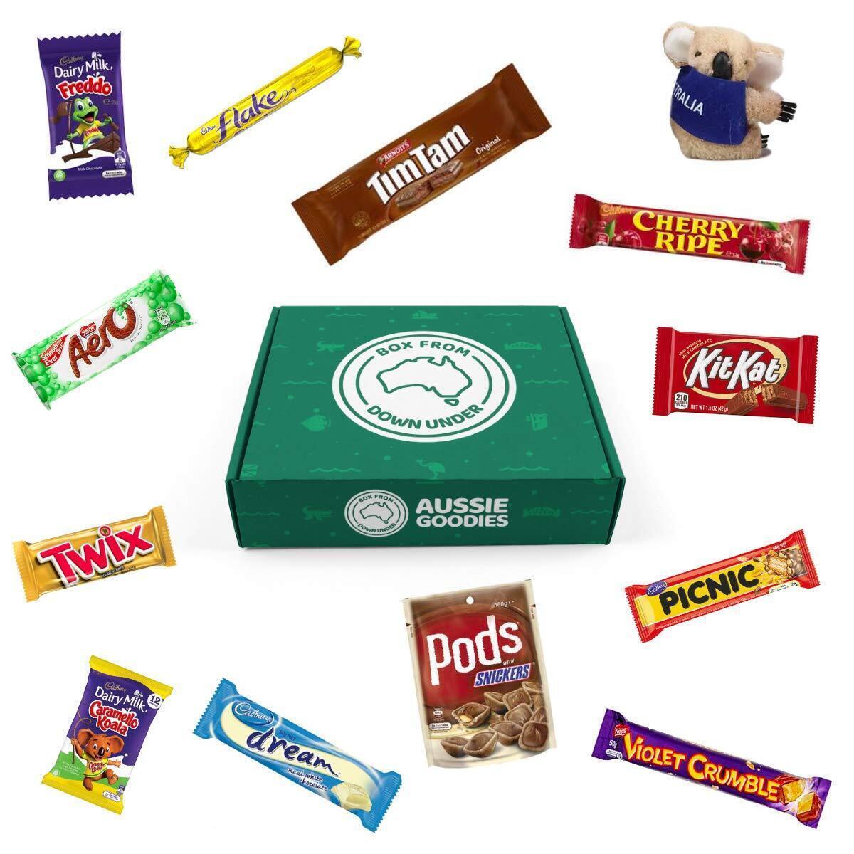 Box from Down Under Australian Chocolate Snack Gift Box