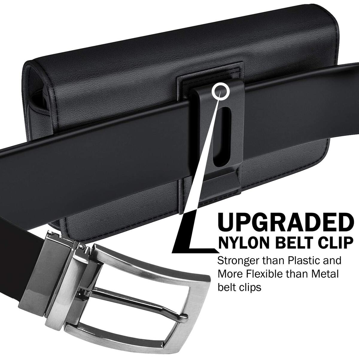 Cell Phone Holster Designed for iPhone 12 Pro/ iPhone 12/ iPhone 11/ iPhone XR Belt Case Holder Carrying Pouch with Belt Clip