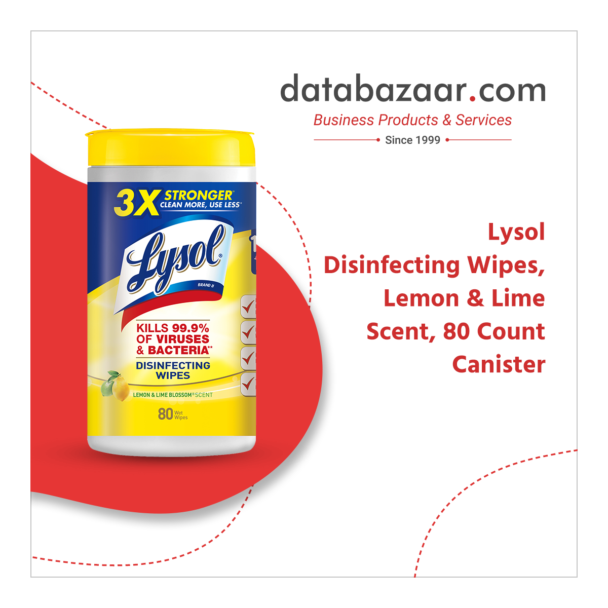 Lysol Disinfecting Wipes, Lemon & Lime Scent, 80 Count Canister