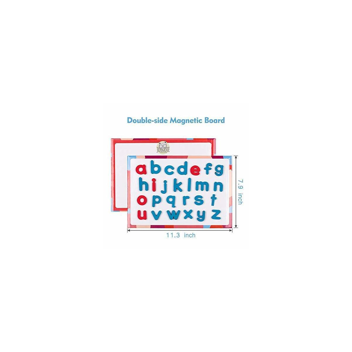 Magnetic Letters Kit with Double-Side Magnet Board