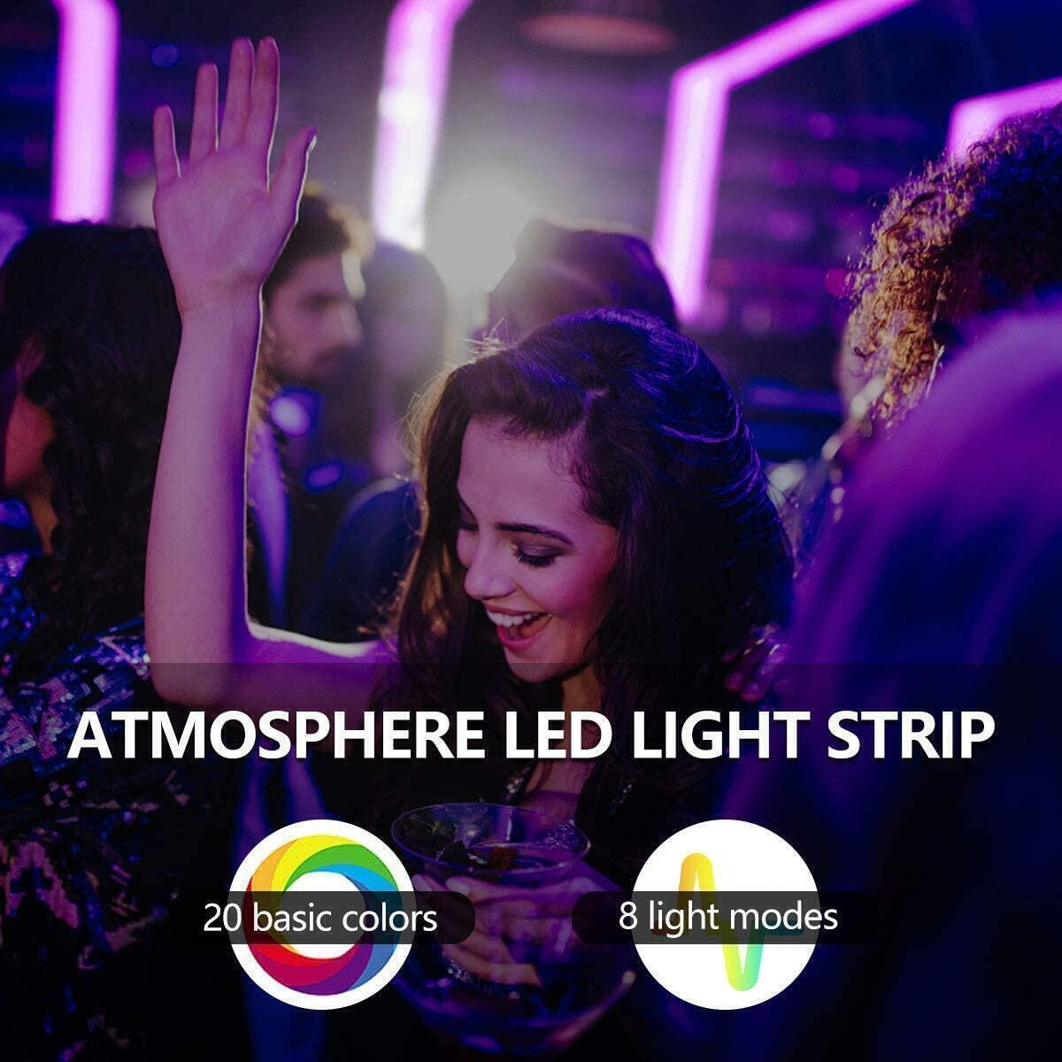 [Extra coupon] LED Strip Lights, 32.8ft 10m RGB Light Strip Kits with Remote for Room, Ceiling..