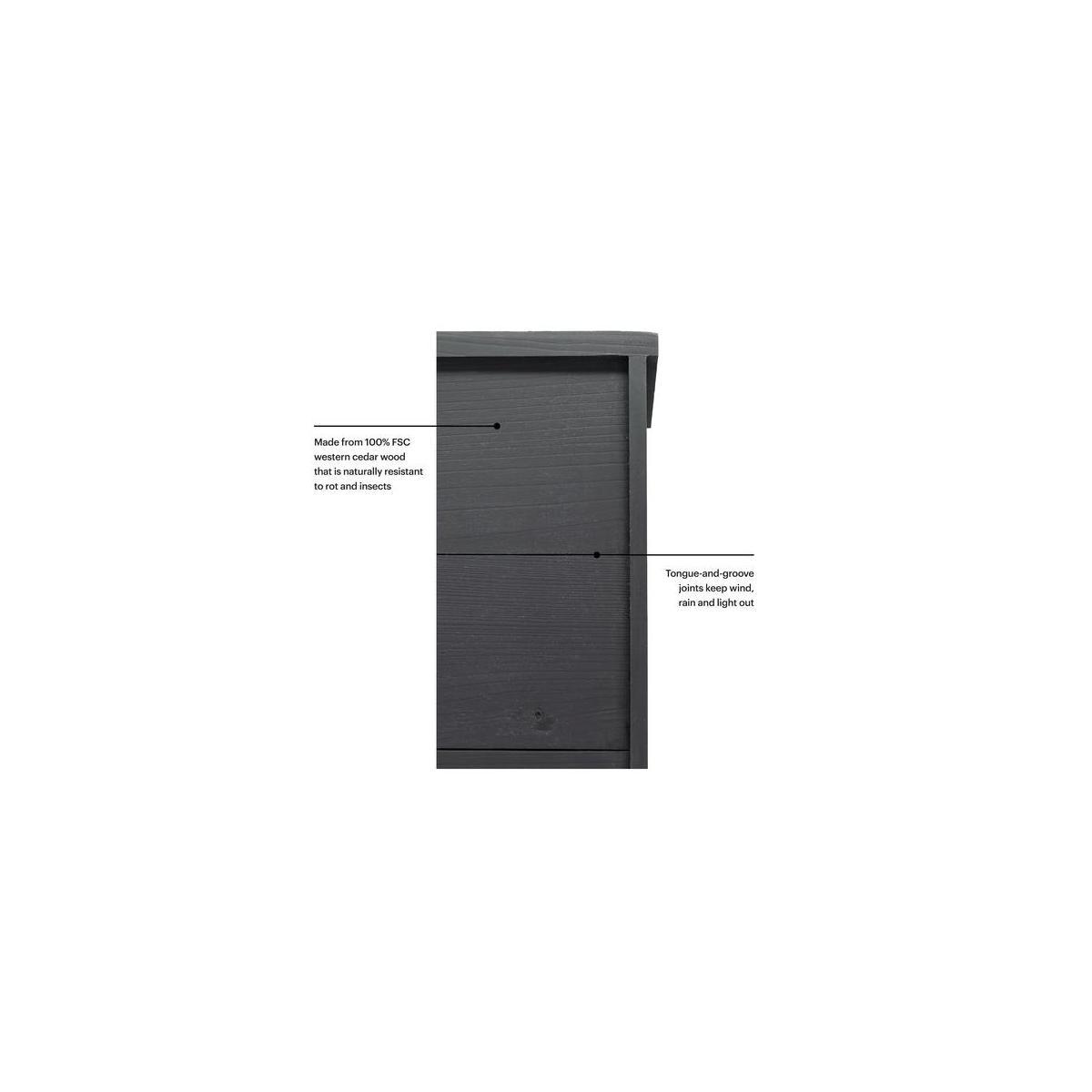 WHITEHORSE Premium Cedar Bat House A 2-Chamber Bat Box That is Built to Las...