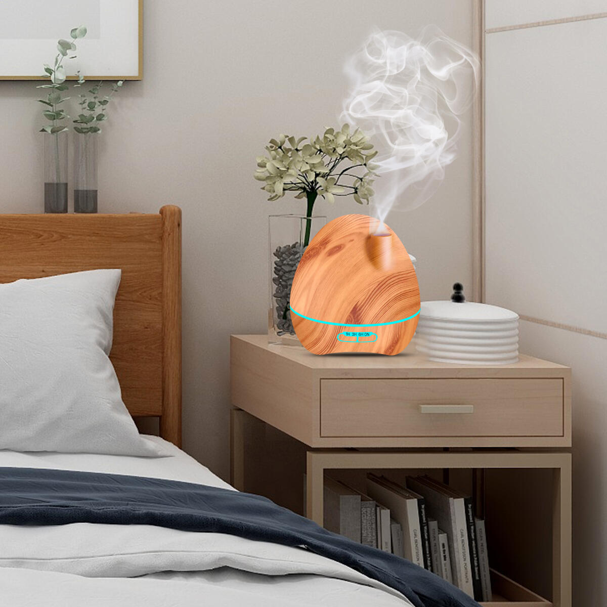 Diffusers for Essential Oils Large Room, Cool Mist Humidifiers for Bedroom 300mL/12Hour(Yellow)(90686)