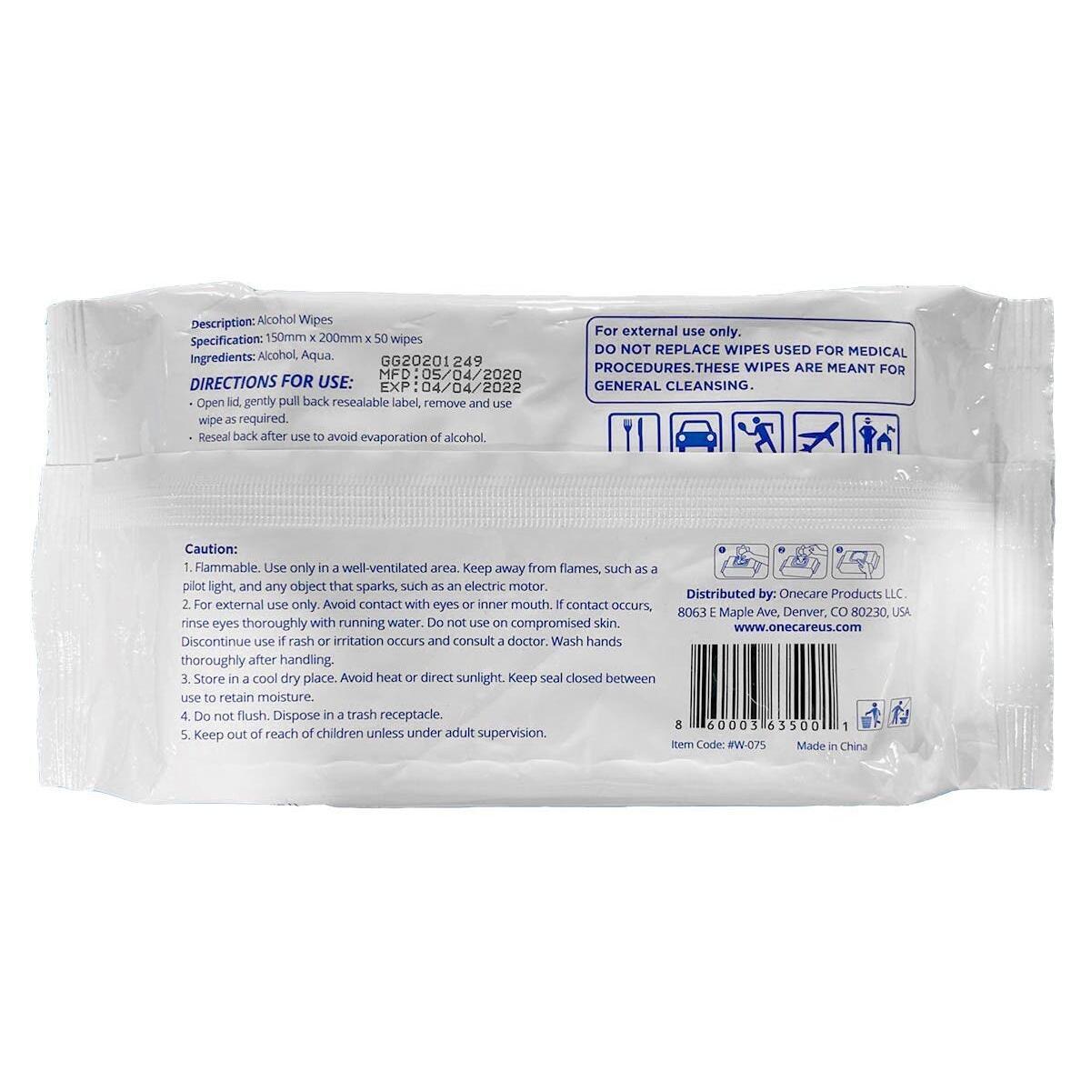 (200 Wipes) Hand Sanitizing Wipes, Alcohol Formula (4 pack) (Big 6 by 8 size) 75% Alcohol Hand Sanitizing Wipes