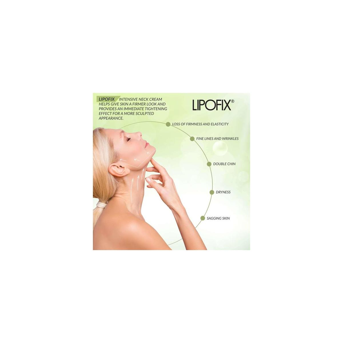LIPOFIX Neck Firming Cream Tones and Firms Sagging Skin Anti-Aging Tightening Intensive Rejuvenating - 50Ml